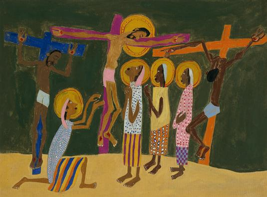 "William H. Johnson 1944 ""Mount Calvary"""